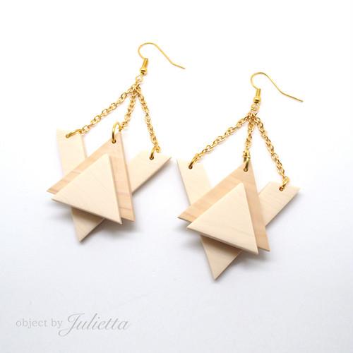 [SALE]fake wood triangle pierce_#005