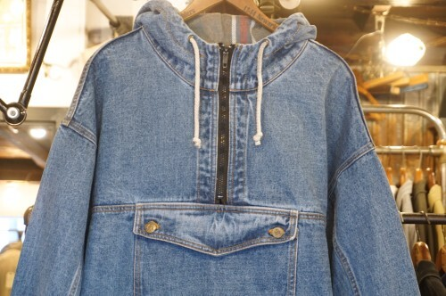early 90's NO FEAR denim pull-over Parka