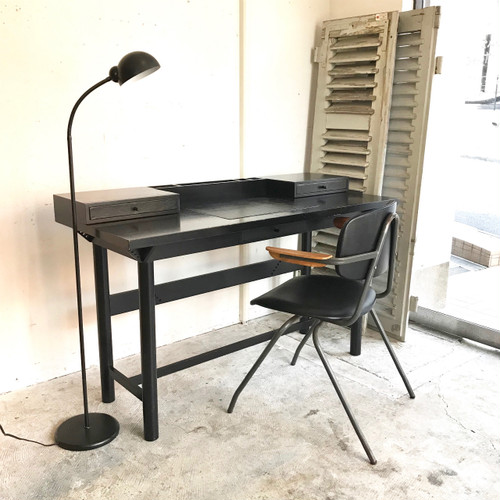 Dutch Modern Leather Top Desk イタリア 80's