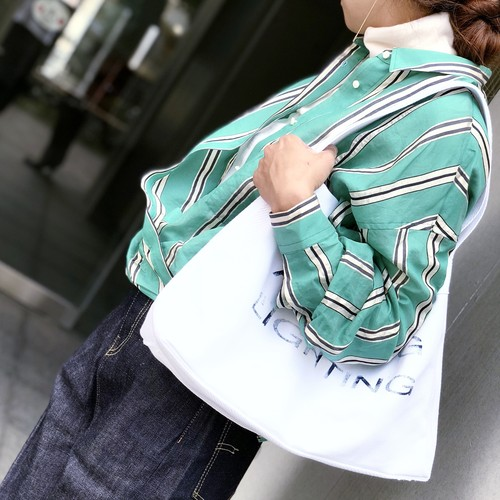 YUTORI SHIRTS/GREEN MULTI STRIPE