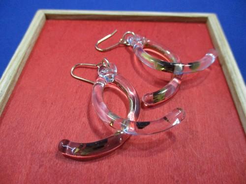 ループピアス(色ガラス・透明G)②