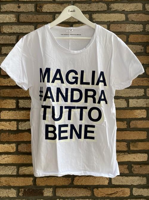 MAGLIA(マリア)チャリティTシャツ #ANDRA TUTTO BENE BLUE ATB-04