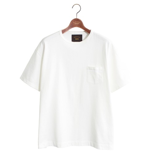 Enharmonic TAVERN One Pocket Loose Tee -White < LSD-AH1T7 >