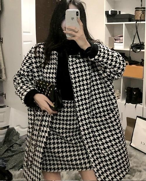 ハウンドチェックジャケット ジャケット 韓国ファッション