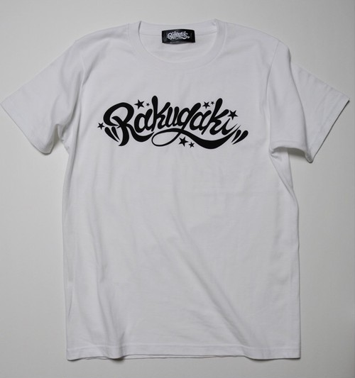 RAKUGAKI Main logo T-Shirts White x Black