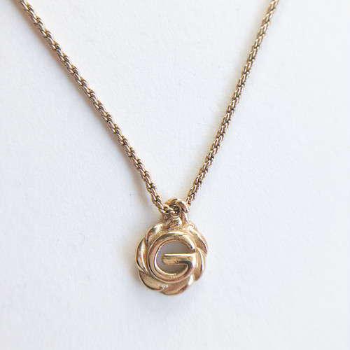 """""""G"""" gold necklace[n-281] ヴィンテージネックレス"""