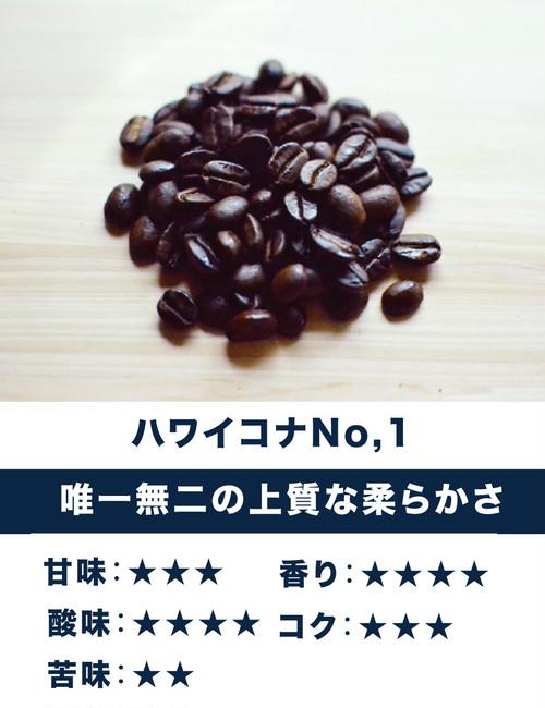 ハワイ・コナ No.1 ☆酸味・甘み系・ゴージャス☆ 唯一無二の上質な柔らかさ。