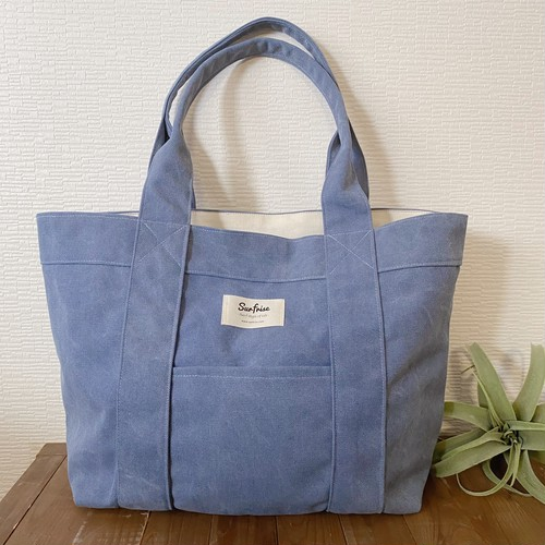 Tote bag L - Vintage blue