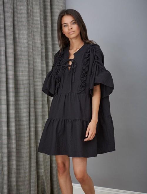 GHOSPELL Black Cotton Dress