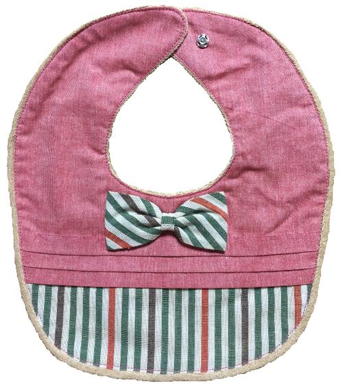 三河木綿のスタイ(女の子にオススメ) color:1