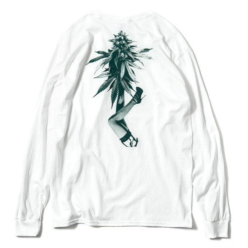 Tightbooth  BUDS L/S T-SHIRT WHITE XL タイトブース ロングTシャツ