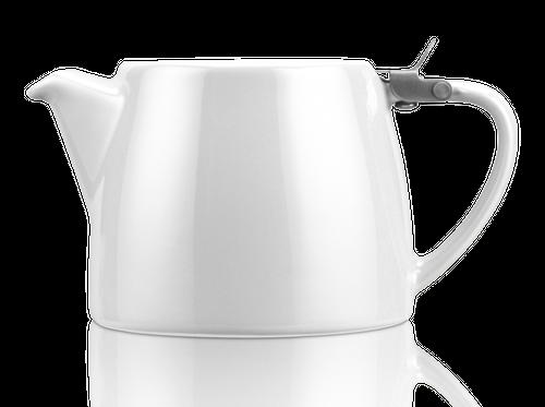 KUSMI TEA スタンプ・ティーポット WHITE