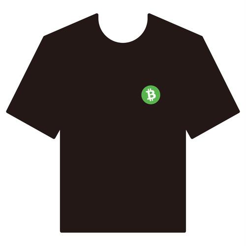 BitcoinCashTシャツ シリーズA 黒 COFA(A4-004)
