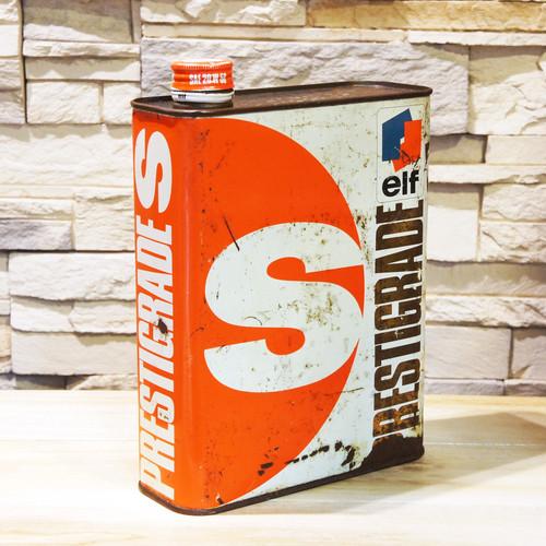 【Vintage/Used品】ELF PRESTIGRADE S ヴィンテージオイル缶