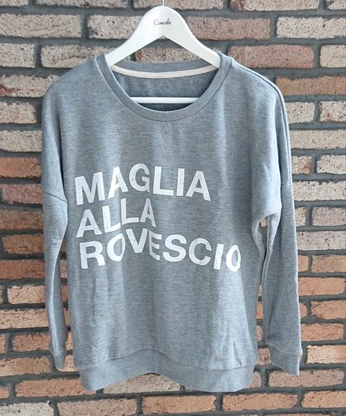 MAGLIA(マリア) スウェット レディースボディ(ドロップショルダー)ROVESCIO グレー