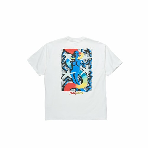 POLAR SKATE CO / QUEEN TEE -WHITE-