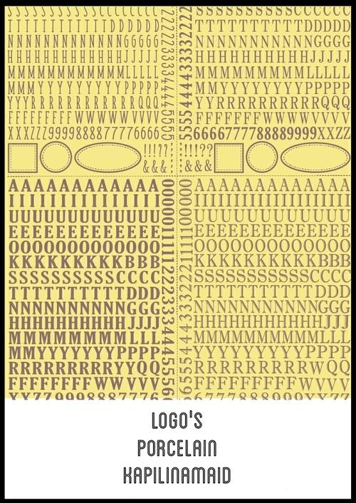 LOGO'S ロゴ転写紙  ガラス用ホワイト A3サイズ(ポーセリンアート用転写紙)