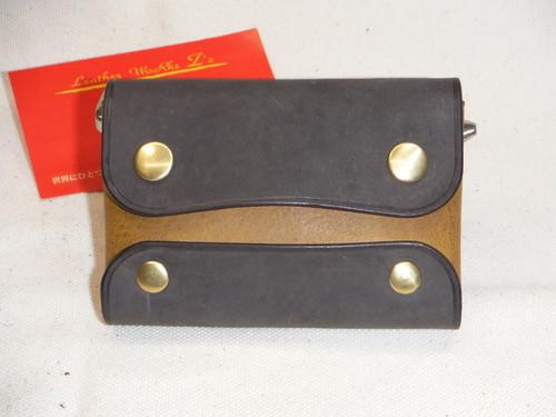 カードケース(ステッチレス)オイルタンニンレザー グレー×マスタード
