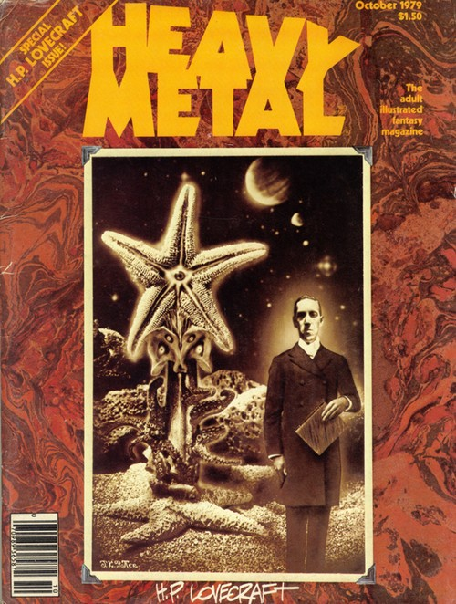 HEAVY METAL Magazine. October 1979. H.P. Lovecraft issue