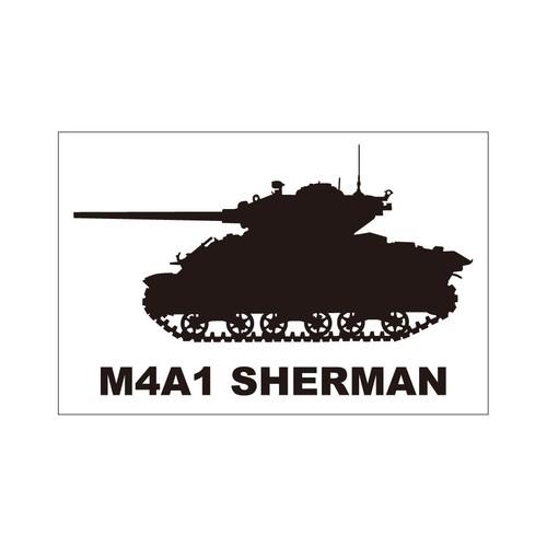 戦車ステッカー M4A1シャーマン