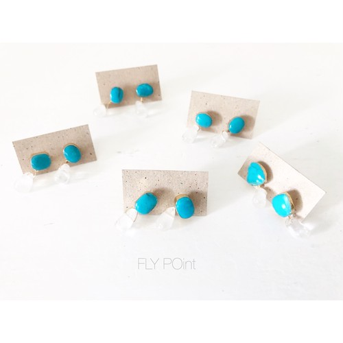 - turquoise 2way point pierce -