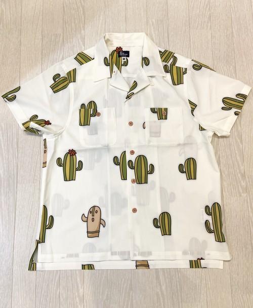 goslowcaravan ポリ昇華プリント総柄S/Sオープンシャツ (MENS)