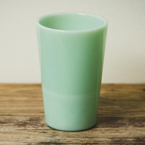 激安!訳アリ品 【Olde Milk-glass】 ジェード ティーハウスタンブラー