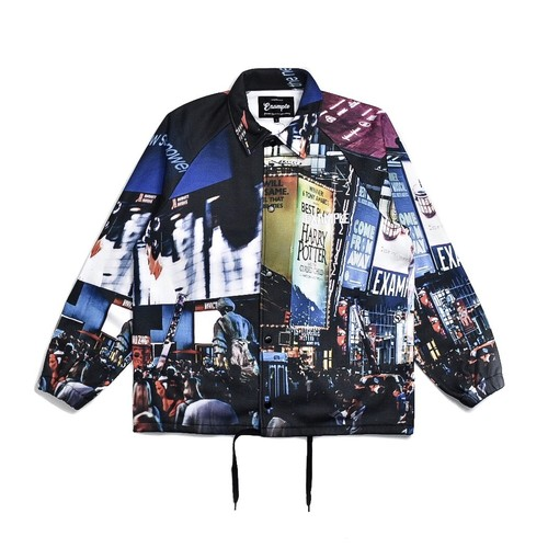 NYC PRINTED COACHES SWEAT JACKET (PHOTO BY SOSHI)
