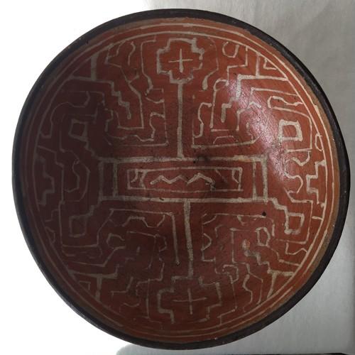 焼きもの 器3直径18cm 陶芸 アマゾン・シピボ族の伝統工芸