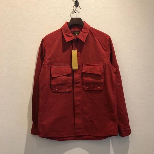 MILITALY WORK SHIRTS (RED) / GERUGA