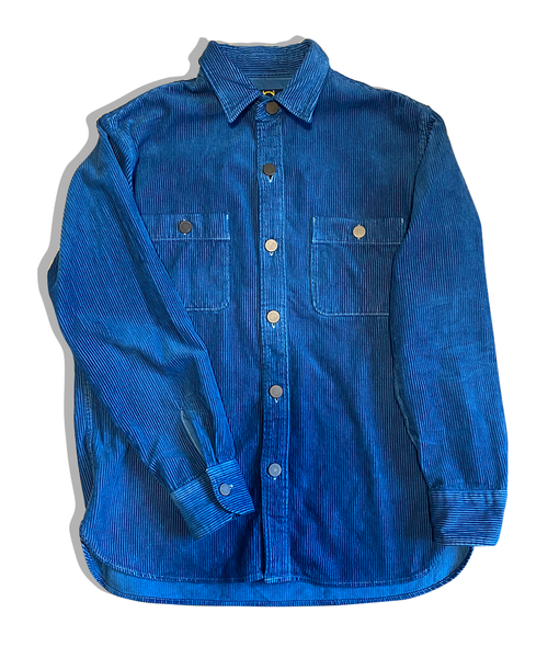 藍染めワークシャツ