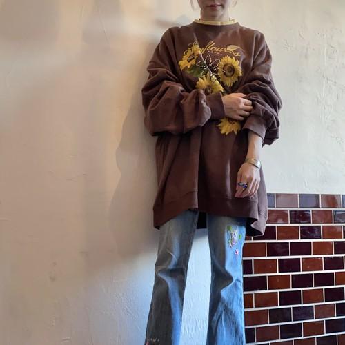 Sunflower and bird sweatshirt