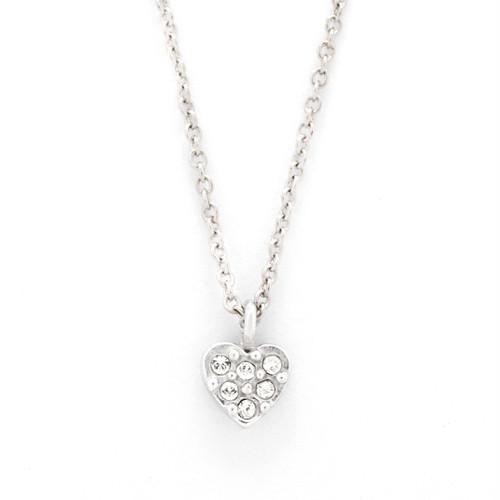 Sparkleheart necklace(Silver)