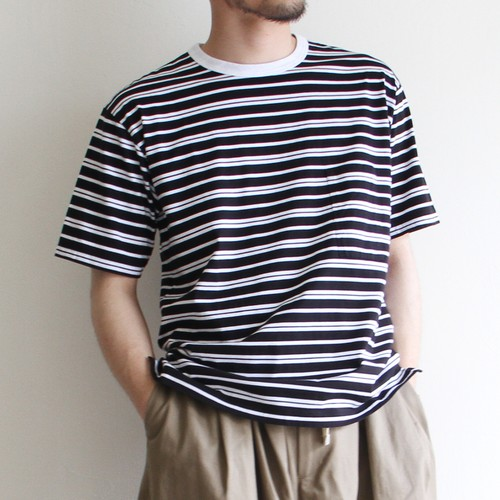 STILL BY HAND【 mens 】border tee