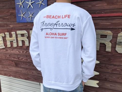 THE BEACH LIFE スウェット(white)