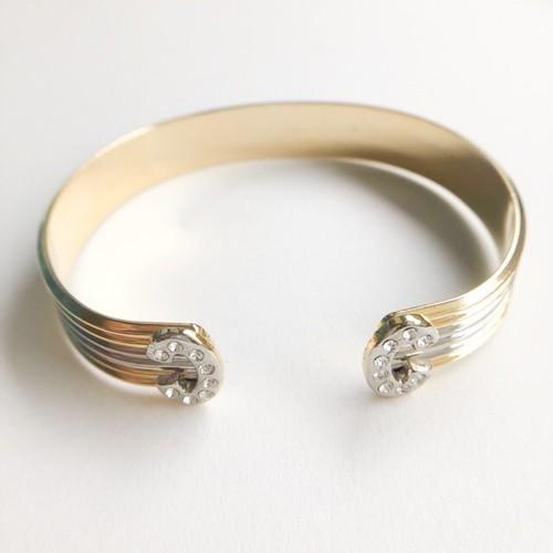 gold & silver bangle bracelet[h-104]