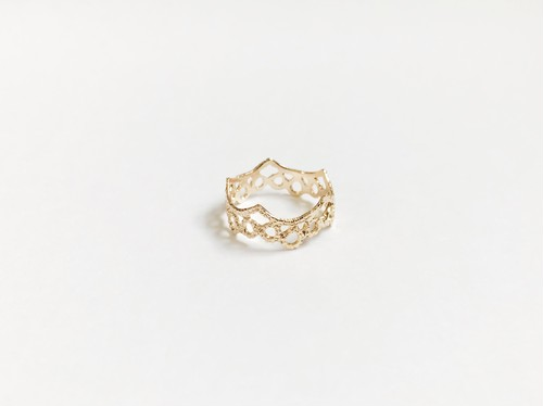 Yularice Lace ring Scallop K10gold