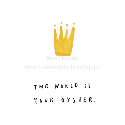 【BABY】Art Print -the world is your oyster-