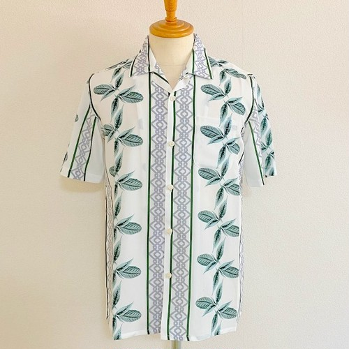 Botanical Aloha Open Collar Shirts White