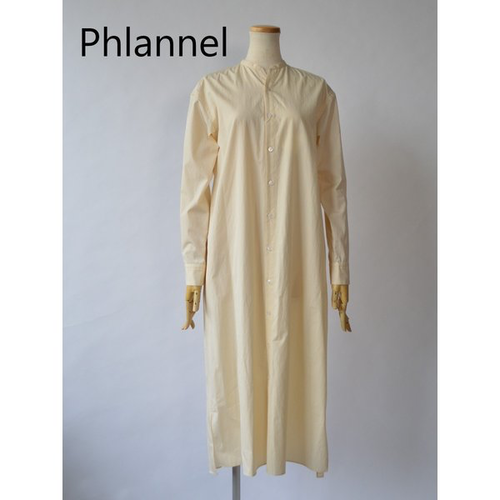 Phlannel sol/フランネルソル・stand collor shirt dress