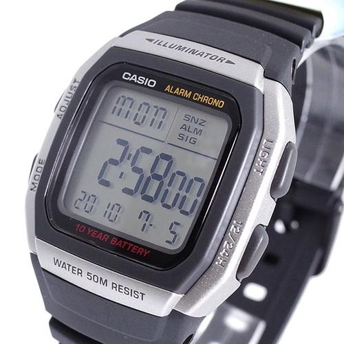 カシオ CASIO 腕時計 メンズ レディース W-96H-1A クォーツ ブラック