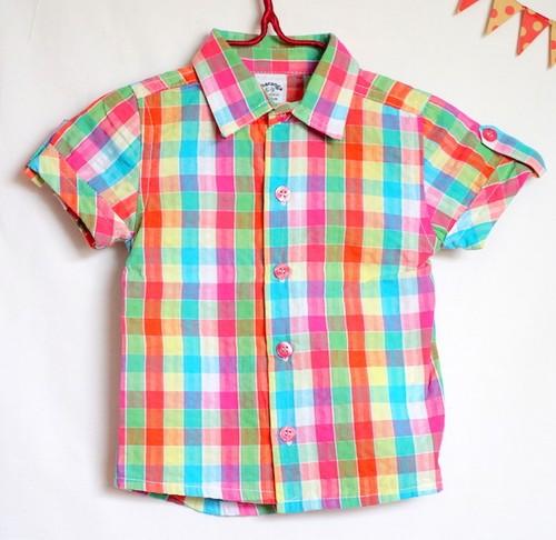 【Kids/Baby】マルチカラーチェックシャツ|チャランガ