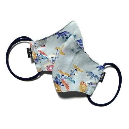 【レディース和柄マスク 高級留袖生地使用 日本製】 高級和柄マスク2枚セット lw05