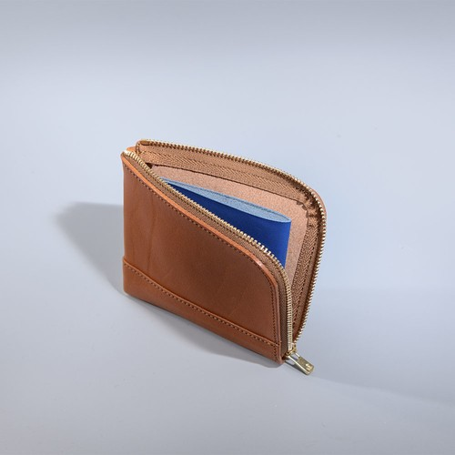 L Zip Small Wallet / 2 tone
