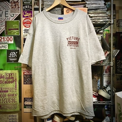 PICTUREMOUSE●STAY HOME s/s Tsh(グレー)