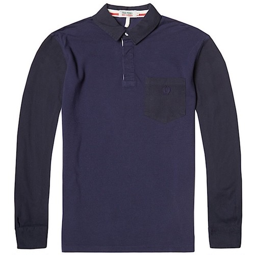 Fred Perry × Nigel Cabourn Football LS Pique Shirt UK38