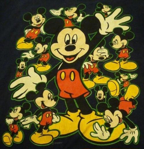 古着のミッキーTシャツ【クリックポスト利用で送料無料】
