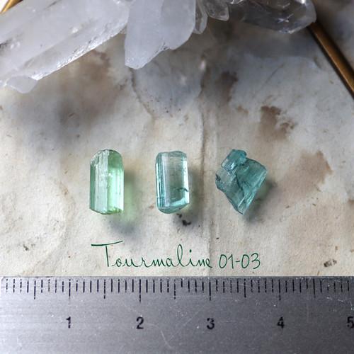 【オーダー用】原石トルマリンのイヤーカフ/リング