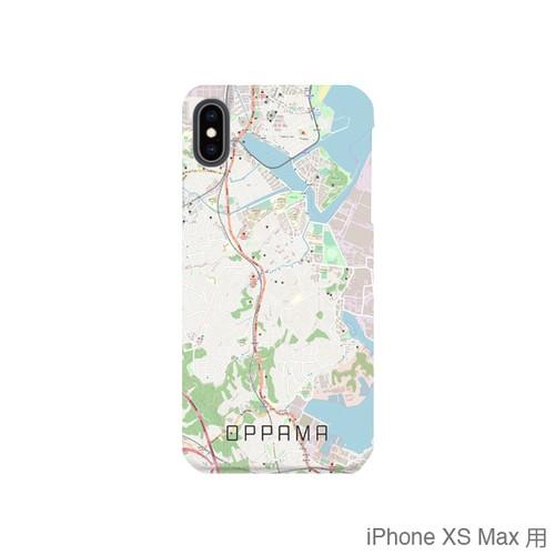 【追浜】地図柄iPhoneケース(バックカバータイプ・ナチュラル)