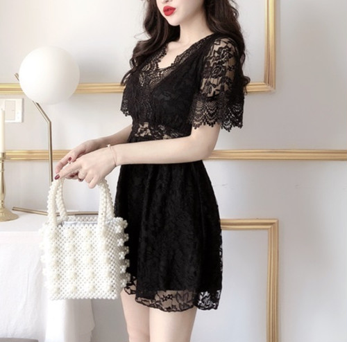 lace tunic dress 2color